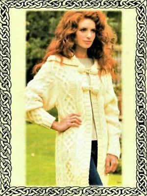 Ladies Cable Coat Knitting Pattern - Copy