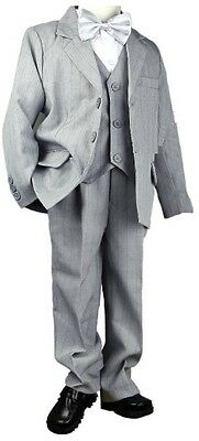 BOYS Wedding Communion Confirmation Set Suit Vest Jacket Pants Size 8 BNEW