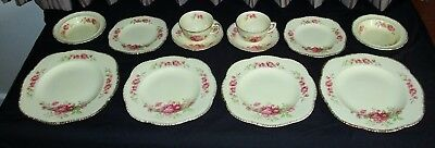 Vintage Woods Ivory Ware Blossom pattern dinner setting 12 pieces - 2 sets of 6