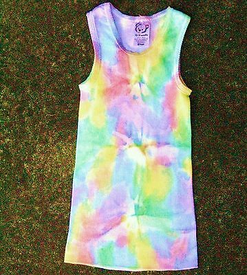 baby shower party gift boy girl top NEW tie dye 3-6m COTTON yoga surf hippy mum