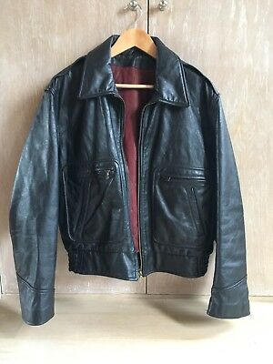 Vintage A2 Highwayman, Leather Motorcycle Flying Jacket Large, Harley, Triumph,