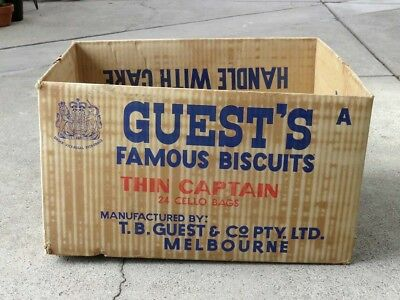 Guests Biscuits Thin Captain Cardboard Carton, TB Guests Biscuits