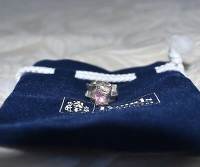 Prouds The Jewellers Sterling Silver Charm of Pinky Stars