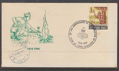 Haiti 1966 Scouts Cover Unaddressed Special Cancel
