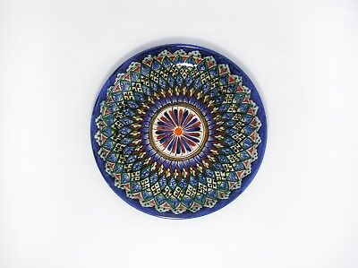 NEW Uzbek Traditional Handmade Painted Pottery Plate Lyagan Rishtan $51