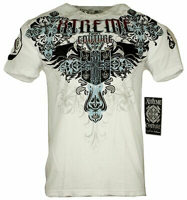 XTREME COUTURE by AFFLICTION Men T-Shirt CLASSIC CREST Biker MMA UFC S-4X $40