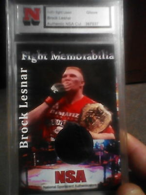 Nsa Brock Lesnar Glove With Stitching Fight Relic Card 1/1 Ufc Wwf Wwe Wrestling
