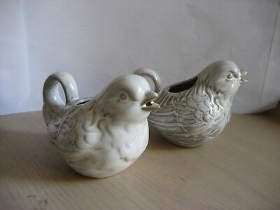 TWO SMALL CERAMIC BIRD JUGS - new never used