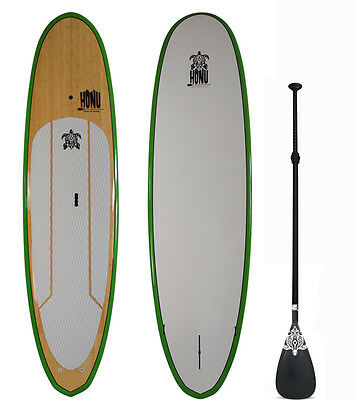 Stand up Paddle SUP board 9'8 + Fins + Grip + Paddle : Bamboo Finish