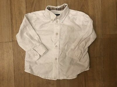 Burberry Boys Baby White Shirt - Size 12 Months - Used - Has Small Marks -