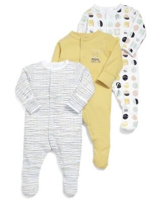 Mamas & Papas Geometric All-in-Ones 3 Pack Age 6-9 Months DH171 HH 20