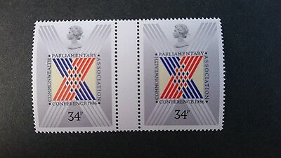 Gb Um Commemorative Stamp Gutter Pair - Commonwealth Parliamentary Conference -