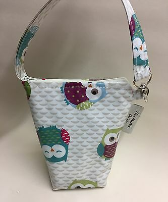Insulated baby bottle bag,Thermal baby bottle Warmer In Owls oilcloth