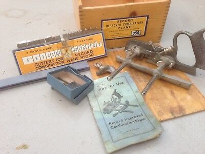 Record 50 Combination Plane With Cutters