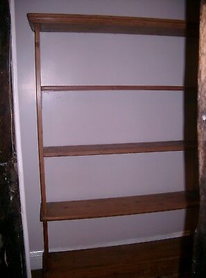 Large Victorian Waxed Pine Book Case