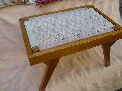 Vintage Mid century Woven top small table