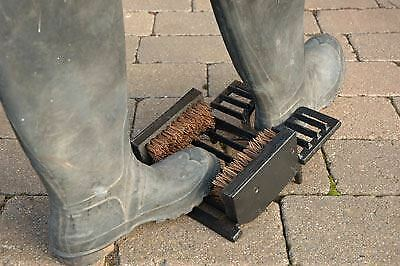 NEWLY IMPROVED 3 in 1 Cast Iron Boot Jack / Brush / Scraper - Various Colours