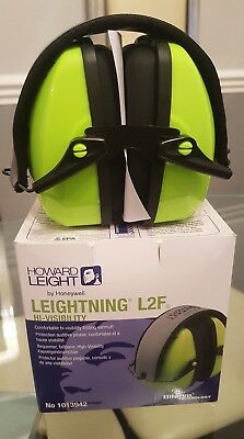 Howard Leight Leightning L2F Comfortable Hi - Visibilityfolding Earmuff Hi Vis