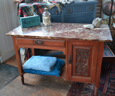Victorian/Edwardian Washstand With Marble Top