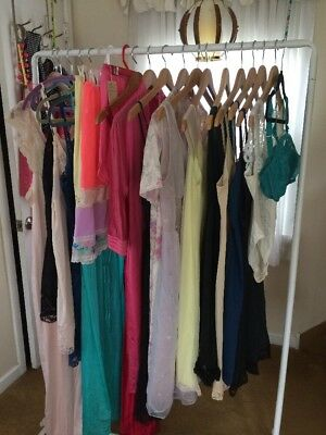 LOT OF 20 TRUE VINTAGE  50's 60s 70s Slips LINGERIE nightgowns S/M/L GORGEOUS