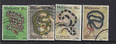 MALAYSIA 2002 Snakes Very Fine Used