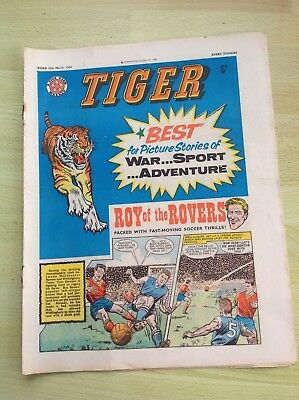 Tiger Comic 30th March 1963 with Roy of the Rovers