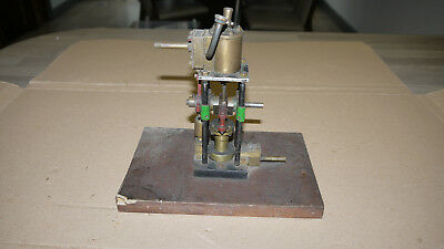 Unusual Live Steam Stationary Vertical Engine