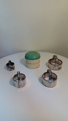 Retro Pastry Cutters in tin.