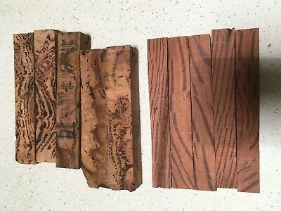 10 x PEN BLANKS, MES MATE (lot 7) & LACE  SHEOAK  BURL ,Very dry - 30 YEARS CUT