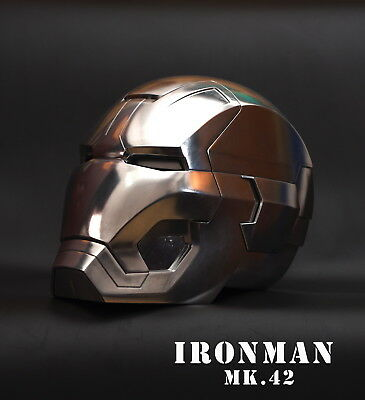 [ Metal ] CATTOYS 1/1 FULL Metal Iron Man MK42 LED Helmet with R/C full polished