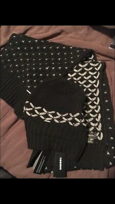 Diesel Toque And Scarf Set Made In Italy