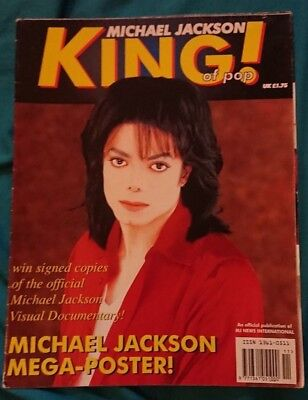 michael jackson king of pop mega- poster magazine very rare