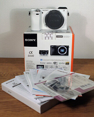 Sony Alpha 600 A6000 body only weiss/white  sehr schön / beautiful condition