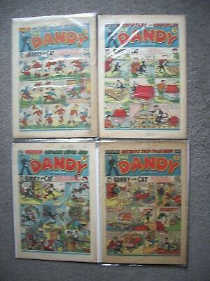 4 Dandy comics from (1955 and 1959).