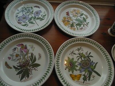 Portmerion Dinner plates,Botanic Garden,set of 4,10 1/2 diameter