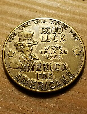 Rare America for Americans Good Luck Token