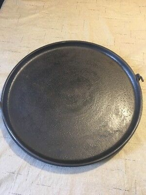 Antique Vintage Gate Mark #12 Cast Iron Round Griddle With Bail Handle