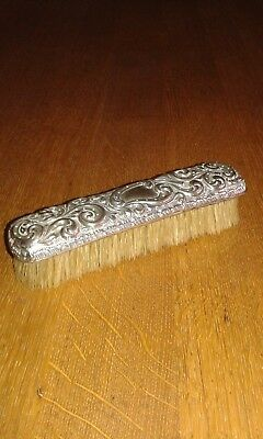 Silver clothes brush Birmingham 1892 maker WN.