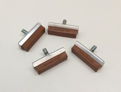 "**old School Bmx ""dia-Compe"" Tan Brake Blocks X 2 Pairs Genuine 1980's Nos**"