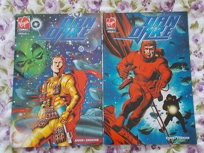 Mrj/ Dan Dare #1 And #2 Virgin Comics Garth Ennis Gary Erskine 2007 Nm