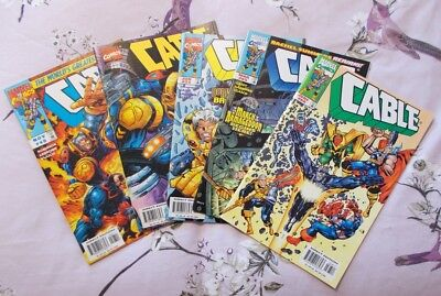 MRJ/ CABLE COLLECTION (x5 COMICS) #48 #50 #55 #65 #68 AVENGERS DOMINO LADRONN NM