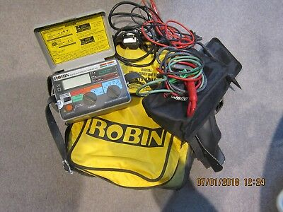 KTS 1610 Robin Digital Multifunction Tester with leads and bags