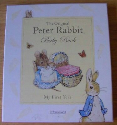 *the Original Peter Rabbit Baby Book* *my First Year* *beatrix Potter Keepsake*