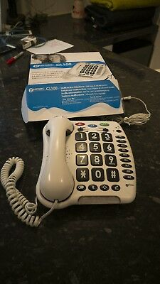 Corded Telephone for hard of hearing Geemarc CL100 Large button