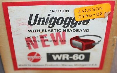 Vintage NOS Unigoggle WR-60 Welding Goggles #5 by Jackson Products Red Steampunk