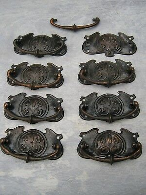 Antique/ Vintage/ drawer handles, drawer furniture. Reclaimed. Art Nouveau.