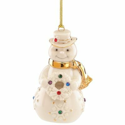 Lenox Holiday Gems Snowman Christmas Ornament New in Box MSRP $60