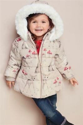 Next Woodland Deer & Toadstool Print Padded Jacket Age 1.5 ~ 2 Yrs