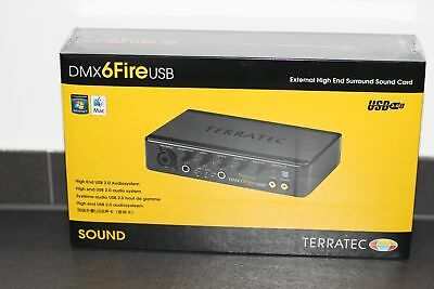 TerraTec SoundSystem DMX 6Fire externe USB-Soundkarte PHONO CINCH NEU OVP