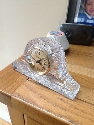 Large Tyrone Crystal mantle clock
